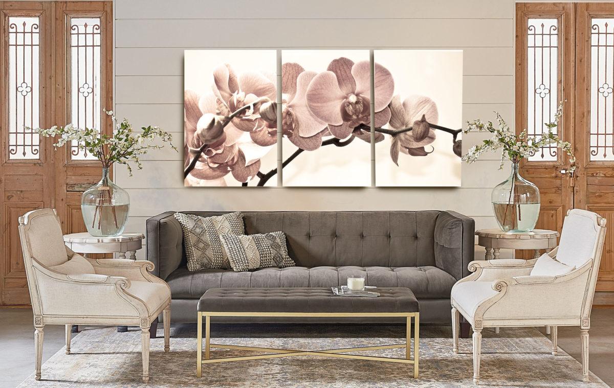 Quadro com sofá e cadeiras