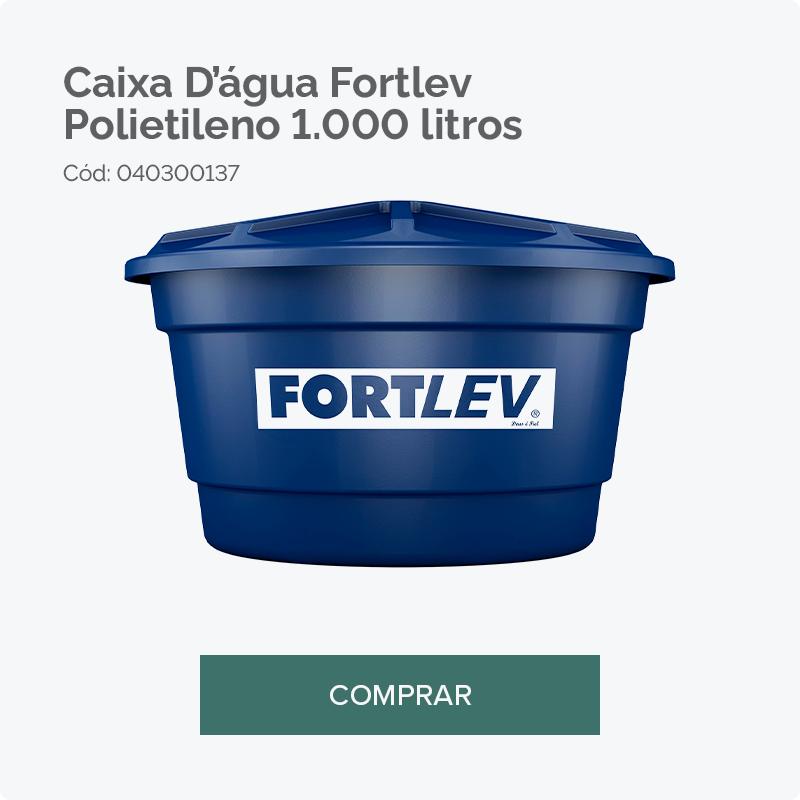 Carajás caixa d'água Fortlev 1000 litros