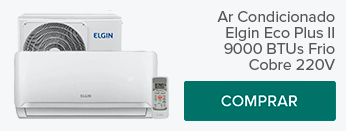 Ar-condicionado Elgin Eco Plus II 9000 BTUS Frio Cobre 220v