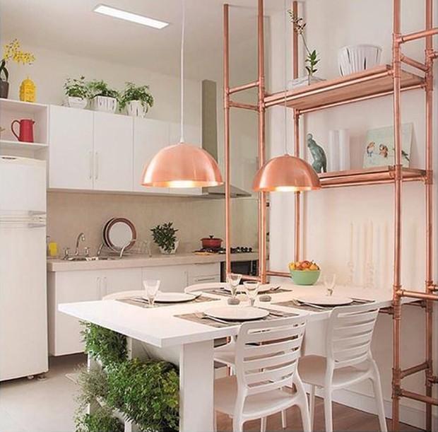decoração rose gold cozinha