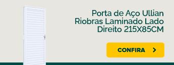 Porta de aço Ullian Riobras Laminado 215x85cm disponível na Carajás