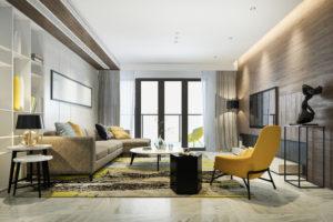 Estilo de decoração - almofadas e cortinas para sala