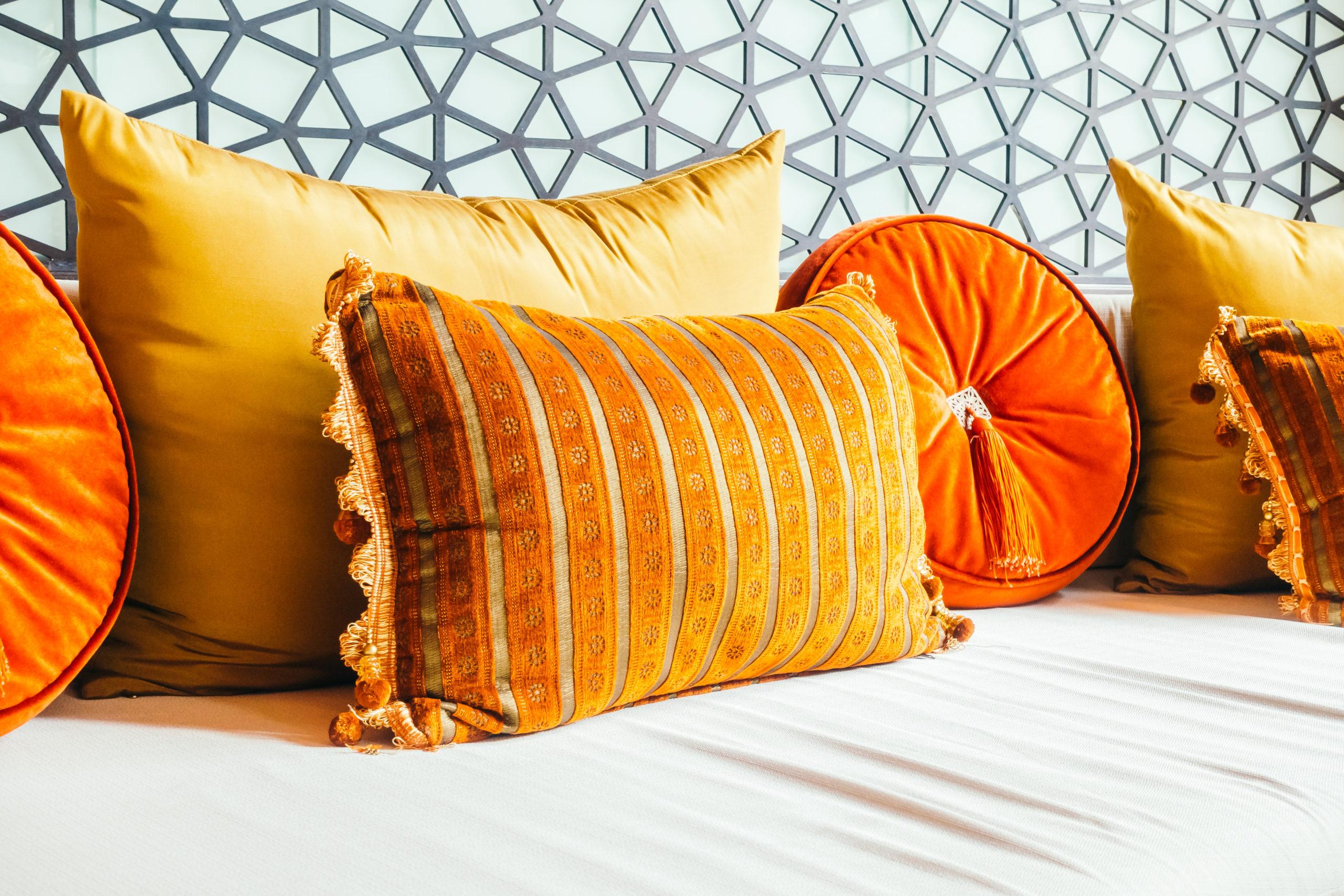 paleta de cores - almofadas e cortinas